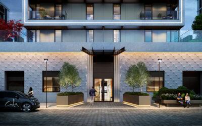 Concrete Valley bedrijven werken aan Battersea's skyline, Londen